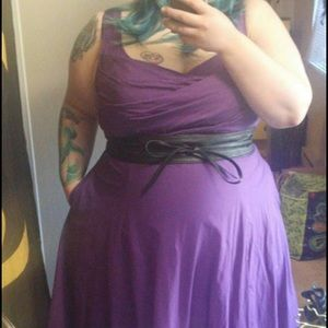 Purple Eshakti Lillian Dress